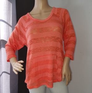 Hang Ten long sleeved see through tee. NWT